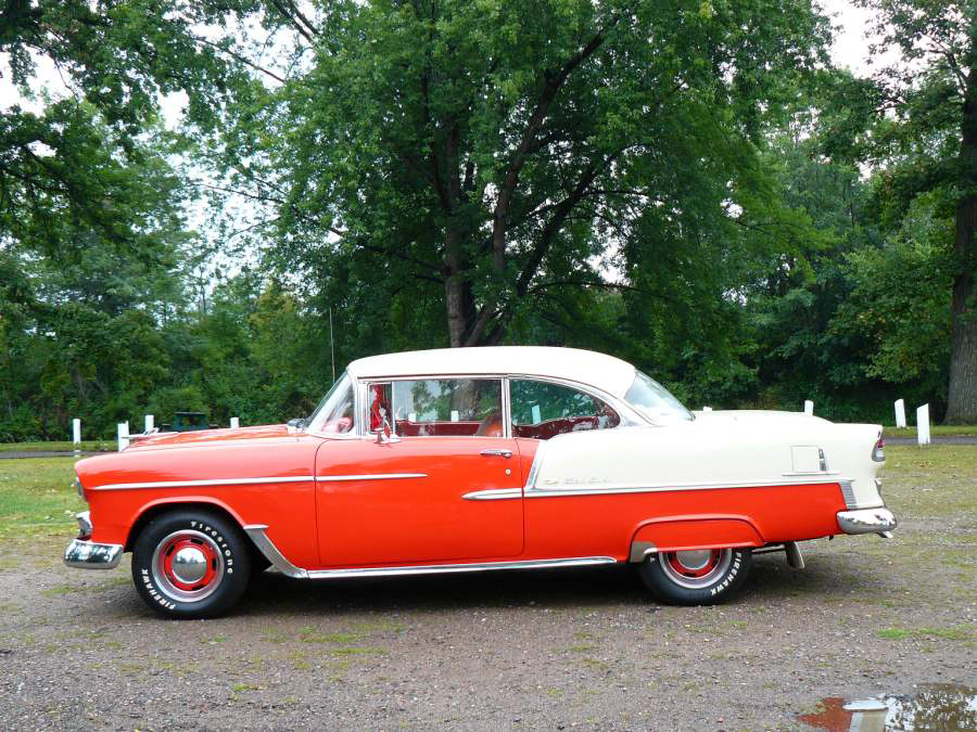 1955 CHEVROLET BEL AIR 2 DOOR HARDTOP - Side Profile - 66403