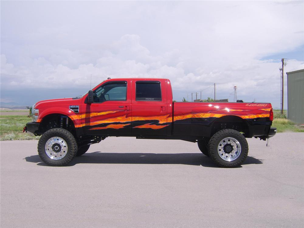2008 FORD F-450 CUSTOM PICKUP - Side Profile - 66406