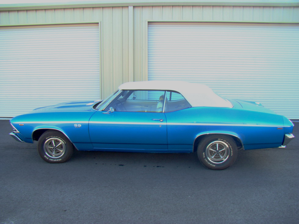 1969 CHEVROLET CHEVELLE SS 2 DOOR CONVERTIBLE - Side Profile - 66416