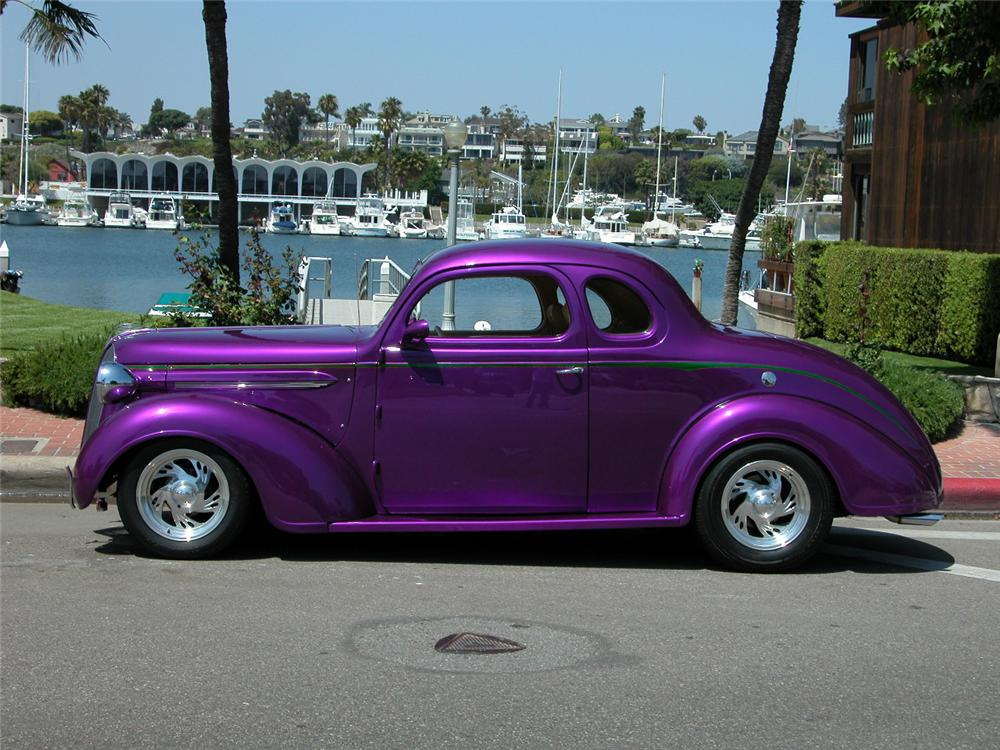 1937 PLYMOUTH 2 DOOR CUSTOM COUPE - Side Profile - 66423