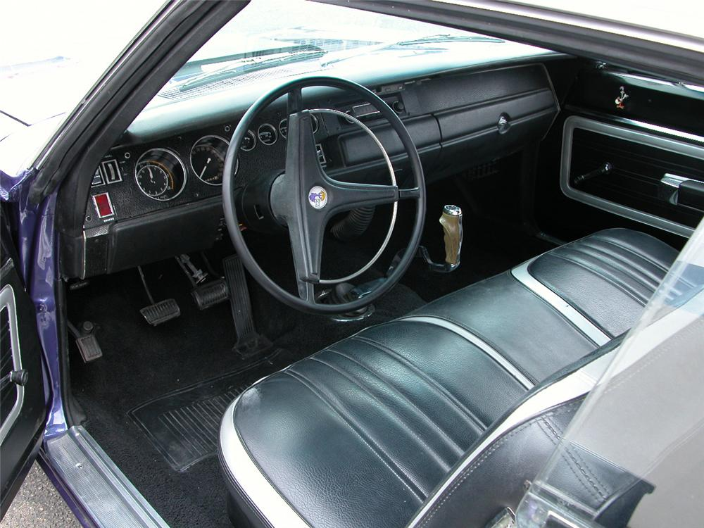 1970 PLYMOUTH ROAD RUNNER 2 DOOR COUPE - Interior - 66424