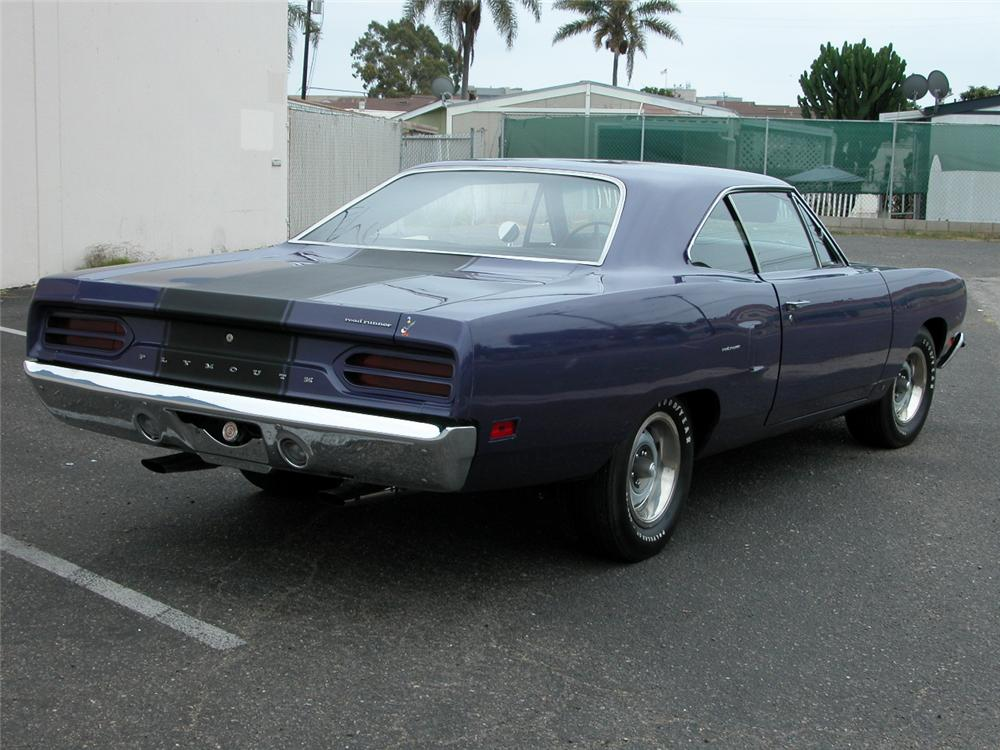 1970 PLYMOUTH ROAD RUNNER 2 DOOR COUPE - Rear 3/4 - 66424