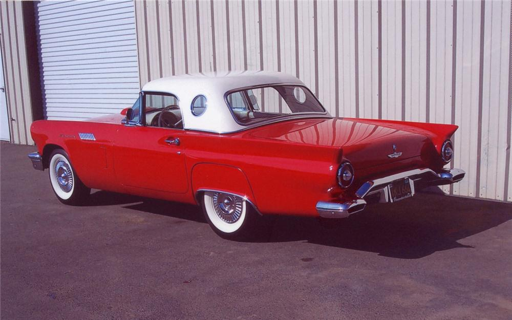 1957 FORD THUNDERBIRD CONVERTIBLE - Rear 3/4 - 66460