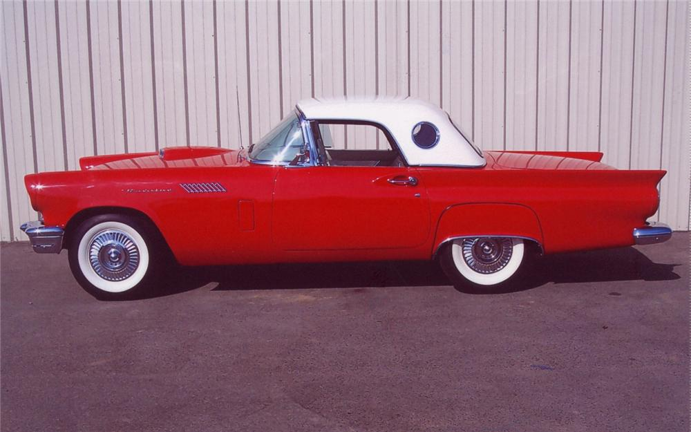 1957 FORD THUNDERBIRD CONVERTIBLE - Side Profile - 66460