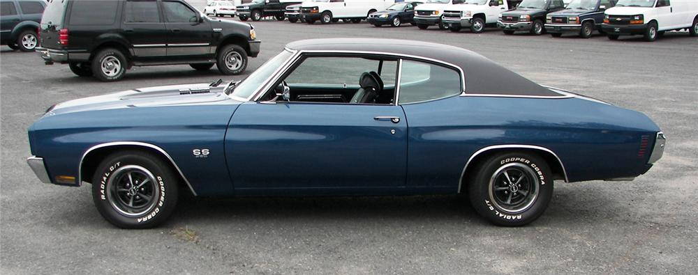 1970 CHEVROLET CHEVELLE SS 396 2 DOOR HARDTOP - Side Profile - 66469