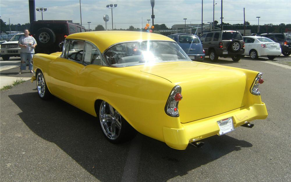 1956 CHEVROLET BEL AIR CUSTOM COUPE - Rear 3/4 - 66477
