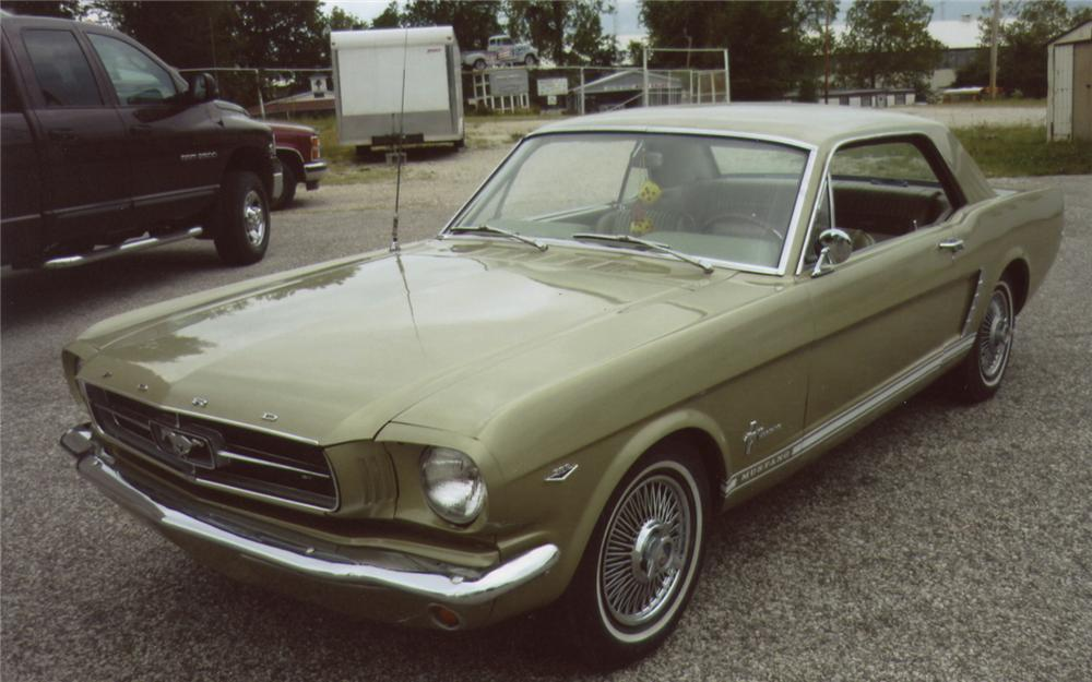 1965 FORD MUSTANG COUPE - Front 3/4 - 66483
