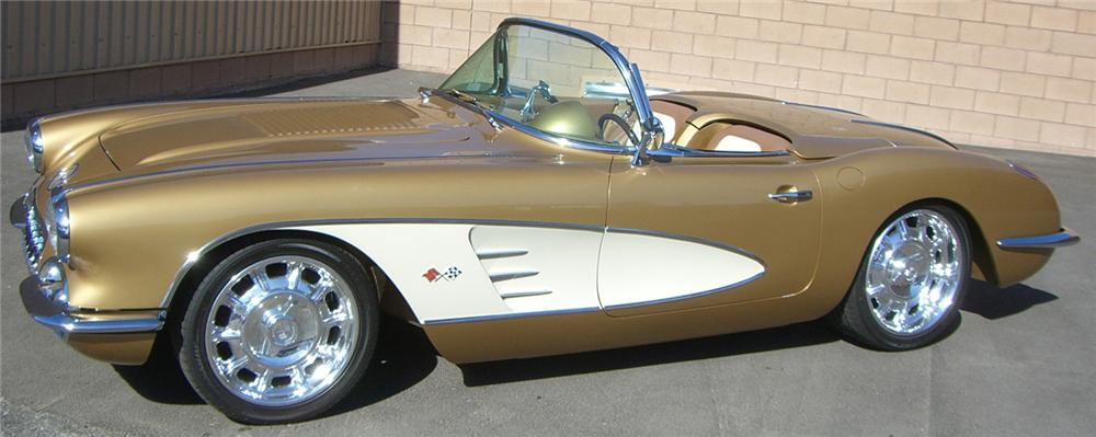 1958 CHEVROLET CORVETTE CONVERTIBLE RE-CREATION - Side Profile - 66500