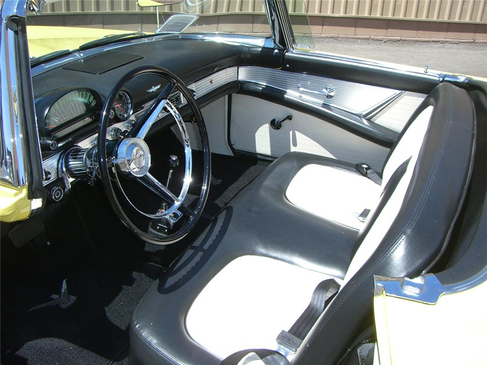 1956 FORD THUNDERBIRD CONVERTIBLE - Interior - 66501