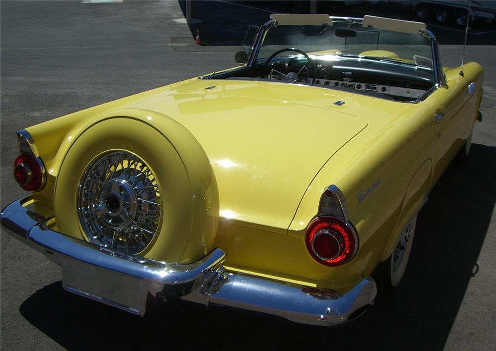 1956 FORD THUNDERBIRD CONVERTIBLE - Rear 3/4 - 66501