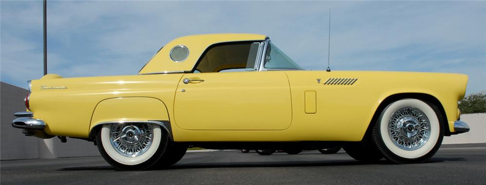 1956 FORD THUNDERBIRD CONVERTIBLE - Side Profile - 66501