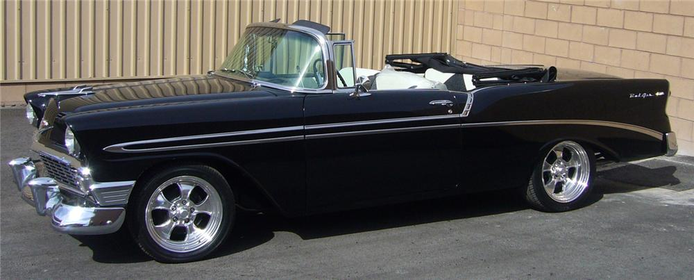1956 chevrolet bel air convertible 66502. Black Bedroom Furniture Sets. Home Design Ideas