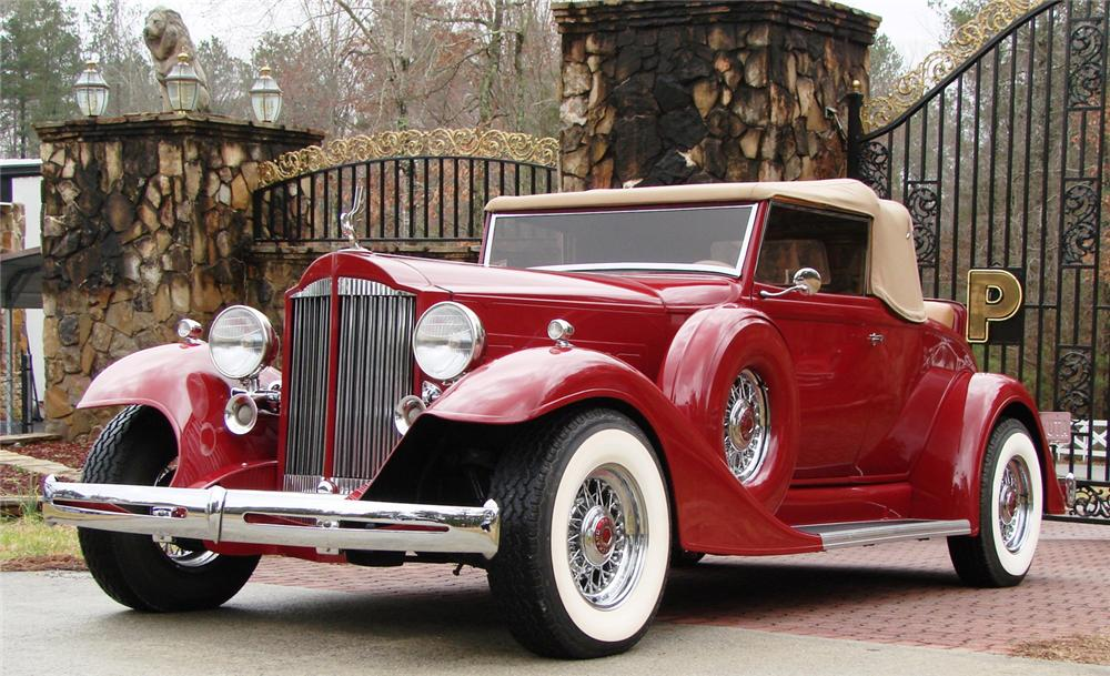 1933 PACKARD 1005 CONVERTIBLE RE-CREATION - Front 3/4 - 66503