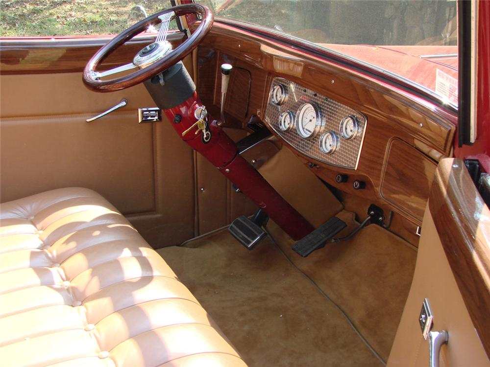 1933 PACKARD 1005 CONVERTIBLE RE-CREATION - Interior - 66503