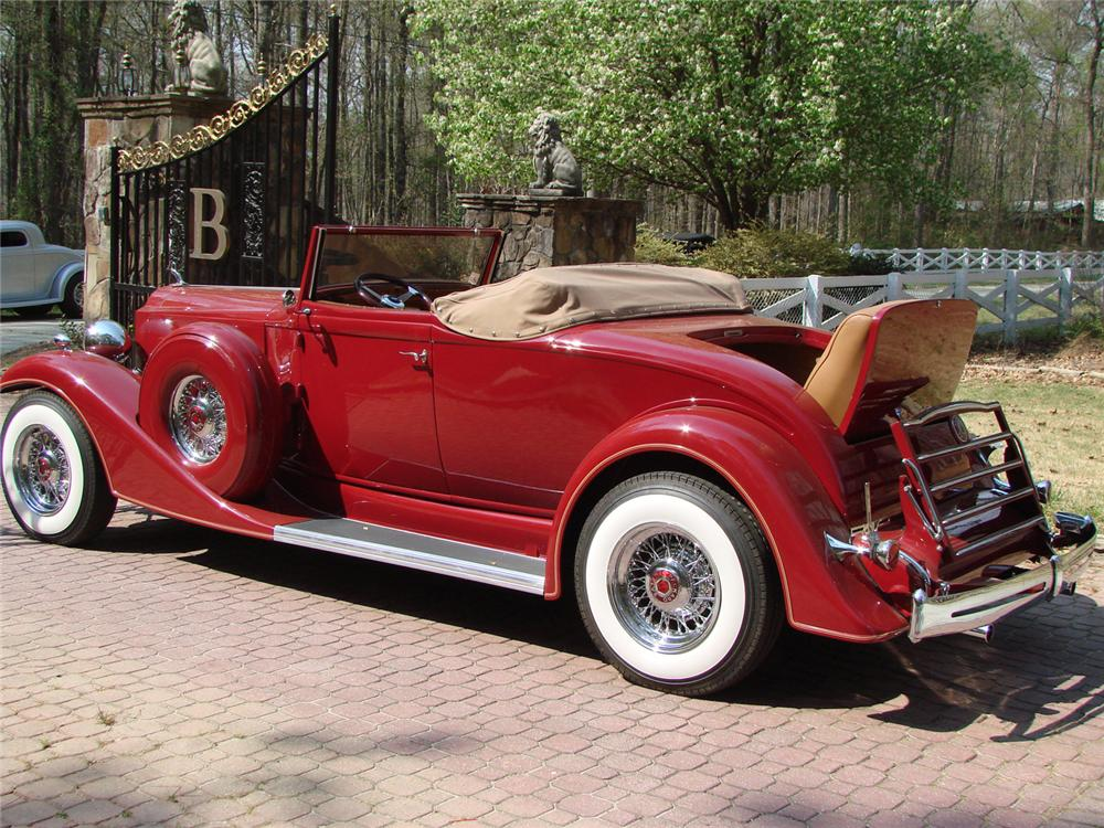 1933 PACKARD 1005 CONVERTIBLE RE-CREATION - Rear 3/4 - 66503