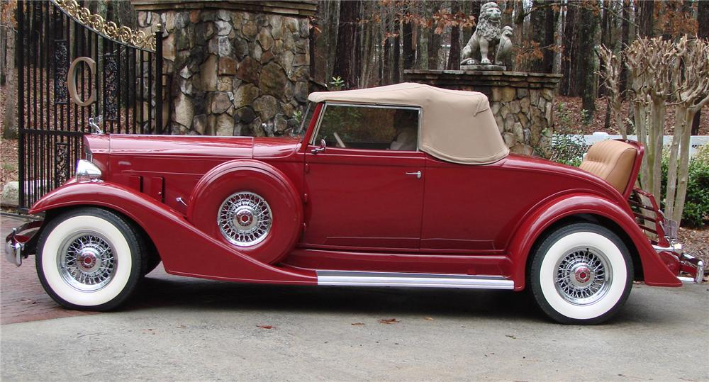 1933 PACKARD 1005 CONVERTIBLE RE-CREATION - Side Profile - 66503