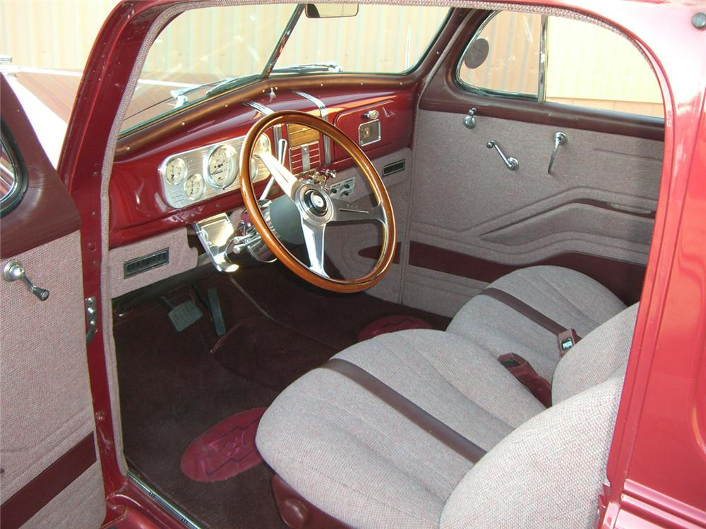 1937 CHEVROLET CUSTOM 2 DOOR SEDAN - Interior - 66505