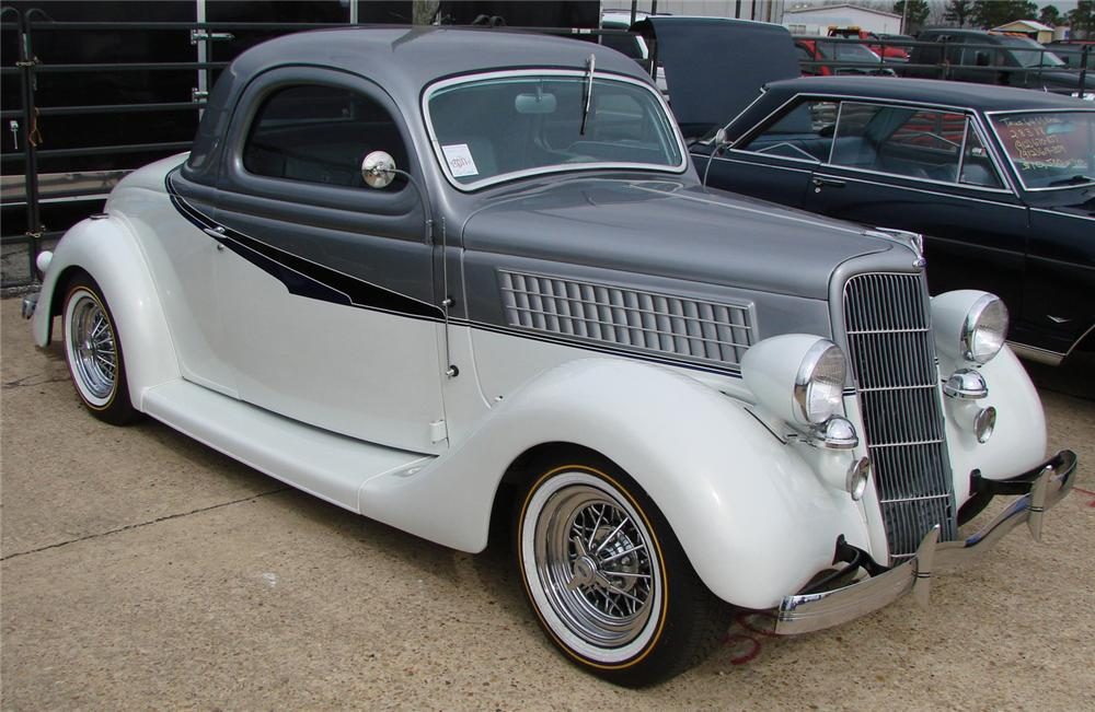 1935 ford 3 window custom coupe 66506 for 1935 ford 3 window