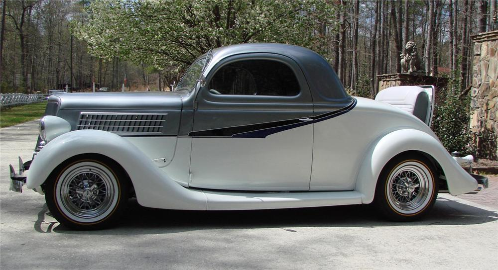 1935 FORD 3 WINDOW CUSTOM COUPE - Side Profile - 66506
