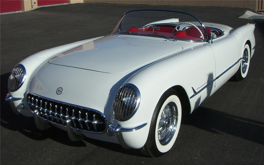 1954 CHEVROLET CORVETTE CUSTOM CONVERTIBLE - Front 3/4 - 66516