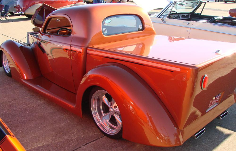 1937 FORD CUSTOM PICKUP - Rear 3/4 - 66518