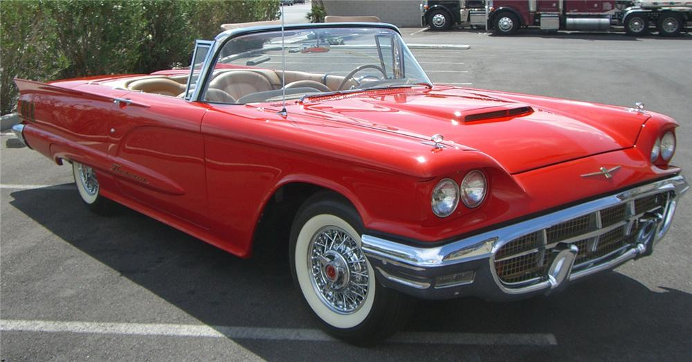 1960 FORD THUNDERBIRD CONVERTIBLE - Front 3/4 - 66519