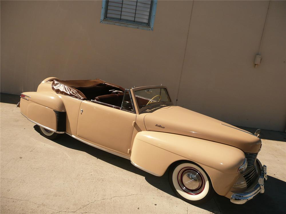 1942 LINCOLN CONTINENTAL CONVERTIBLE - Side Profile - 70561
