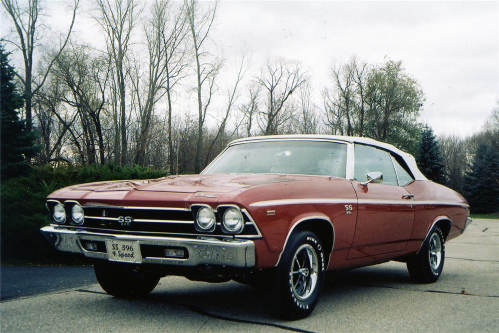 1969 CHEVROLET CHEVELLE SS 396 CONVERTIBLE - Front 3/4 - 70569
