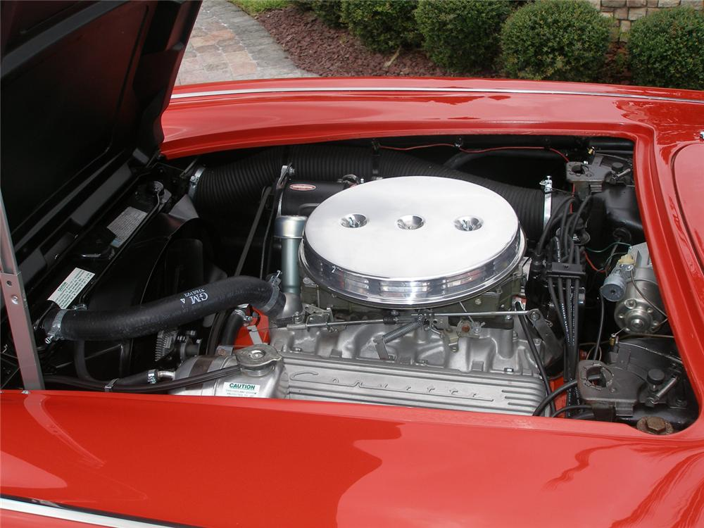 1961 CHEVROLET CORVETTE CONVERTIBLE - Engine - 70608
