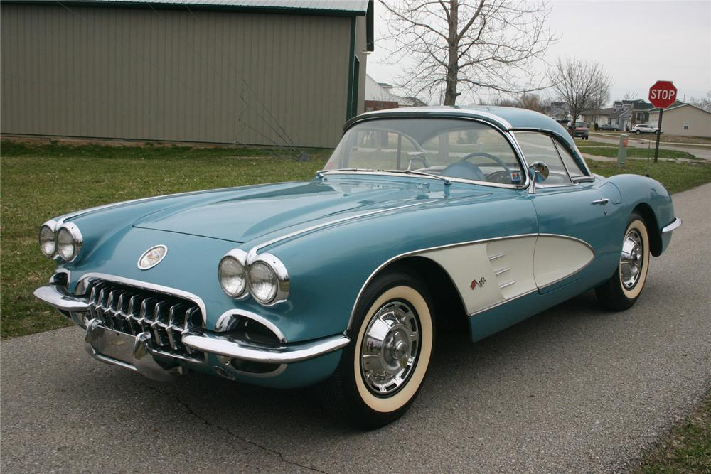 1959 CHEVROLET CORVETTE CONVERTIBLE - Front 3/4 - 70617