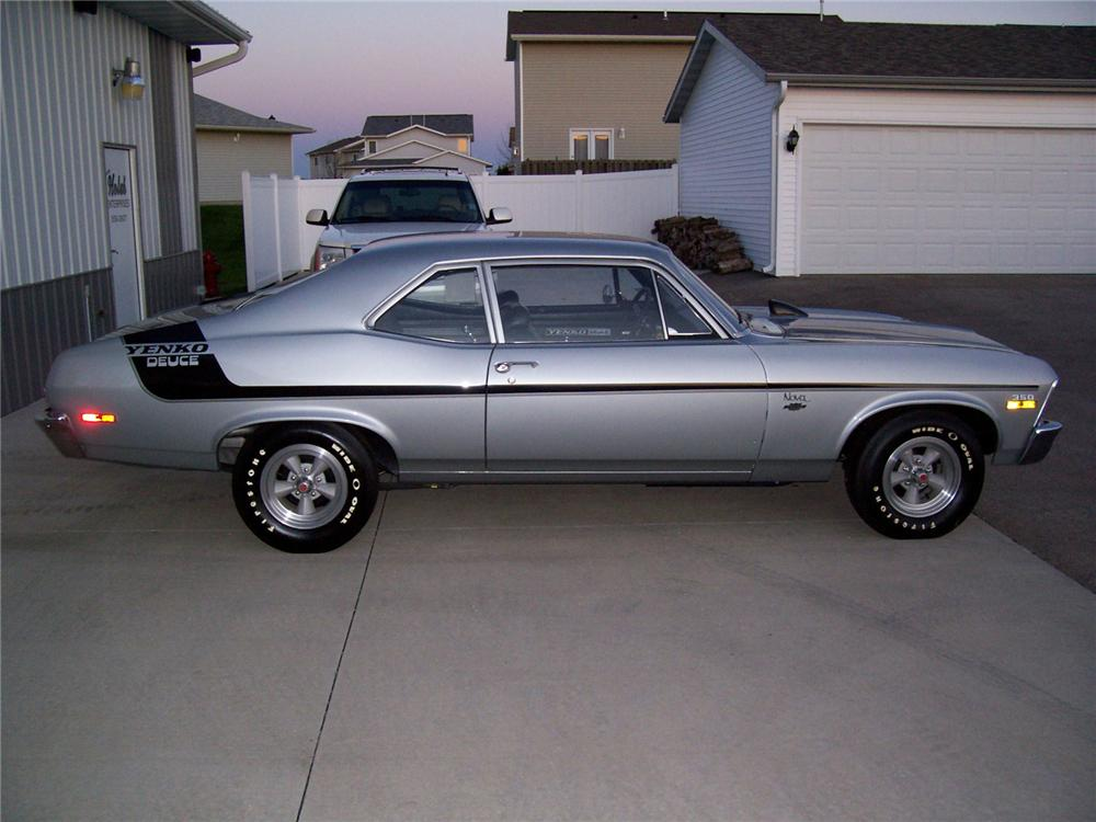 1970 CHEVROLET NOVA YENKO DEUCE COUPE - Side Profile - 70620