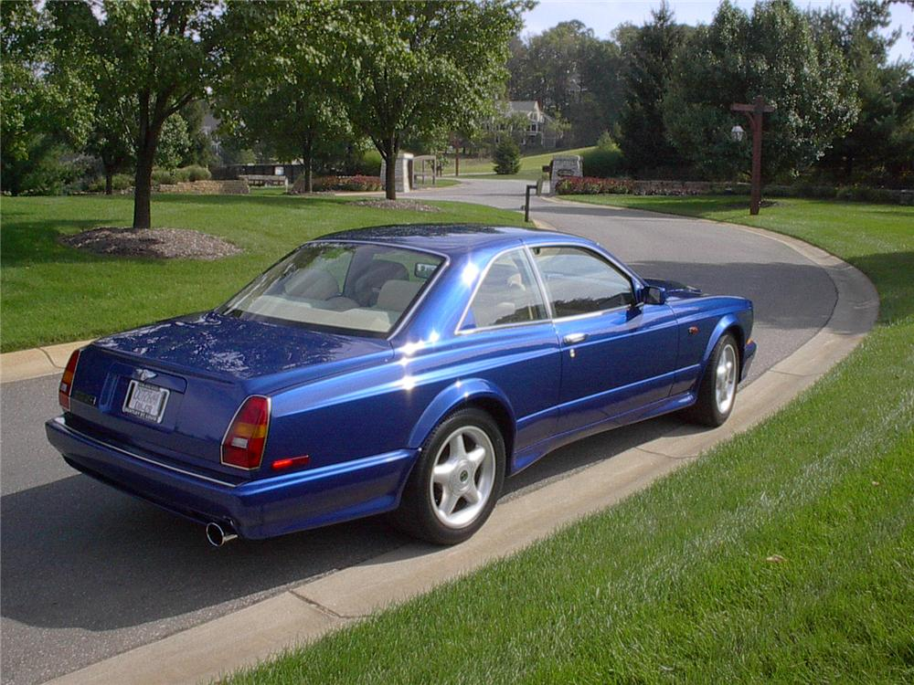 1998 BENTLEY CONTINENTAL T 2 DOOR HARDTOP - Rear 3/4 - 70625
