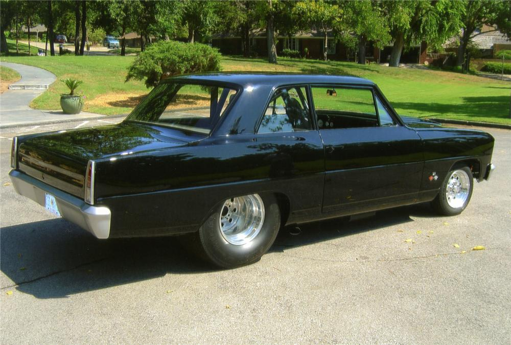 1966 CHEVROLET CHEVY II NOVA 2 DOOR CUSTOM - Rear 3/4 - 70628