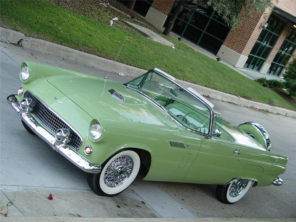 1956 FORD THUNDERBIRD CONVERTIBLE - Front 3/4 - 70644