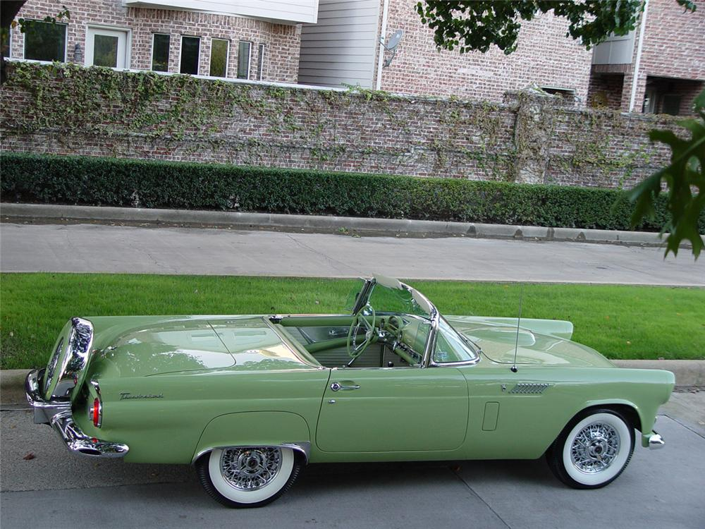 1956 FORD THUNDERBIRD CONVERTIBLE - Side Profile - 70644
