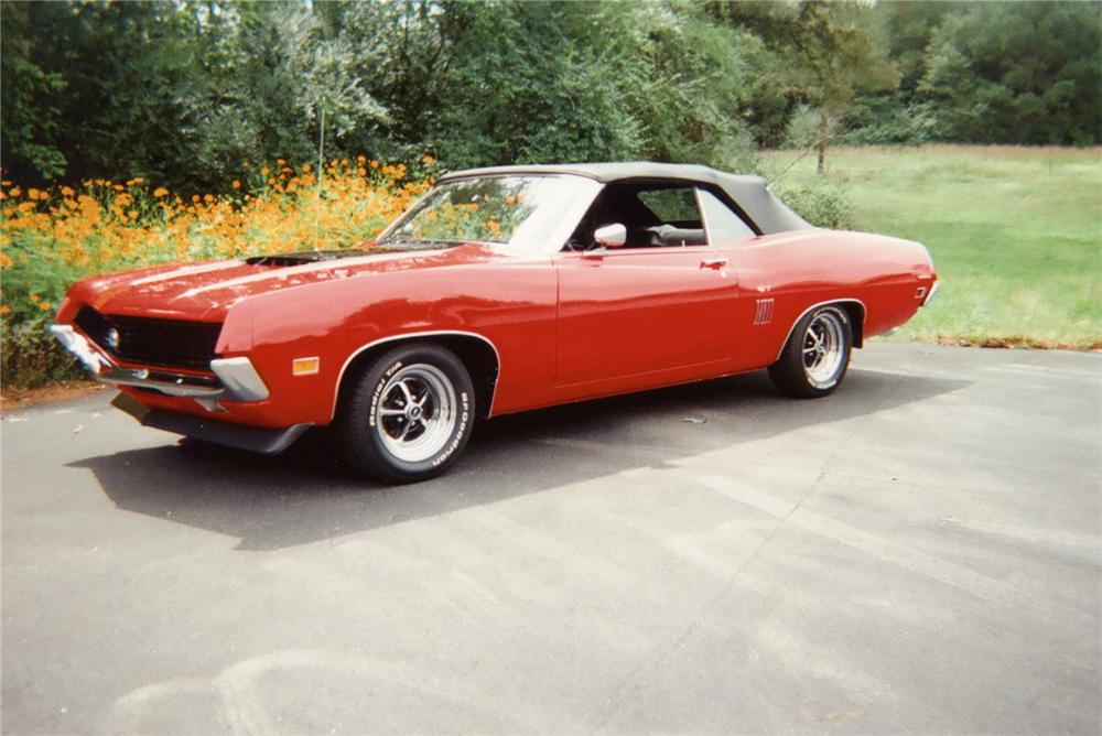 1970 FORD TORINO GT CONVERTIBLE - Front 3/4 - 70649