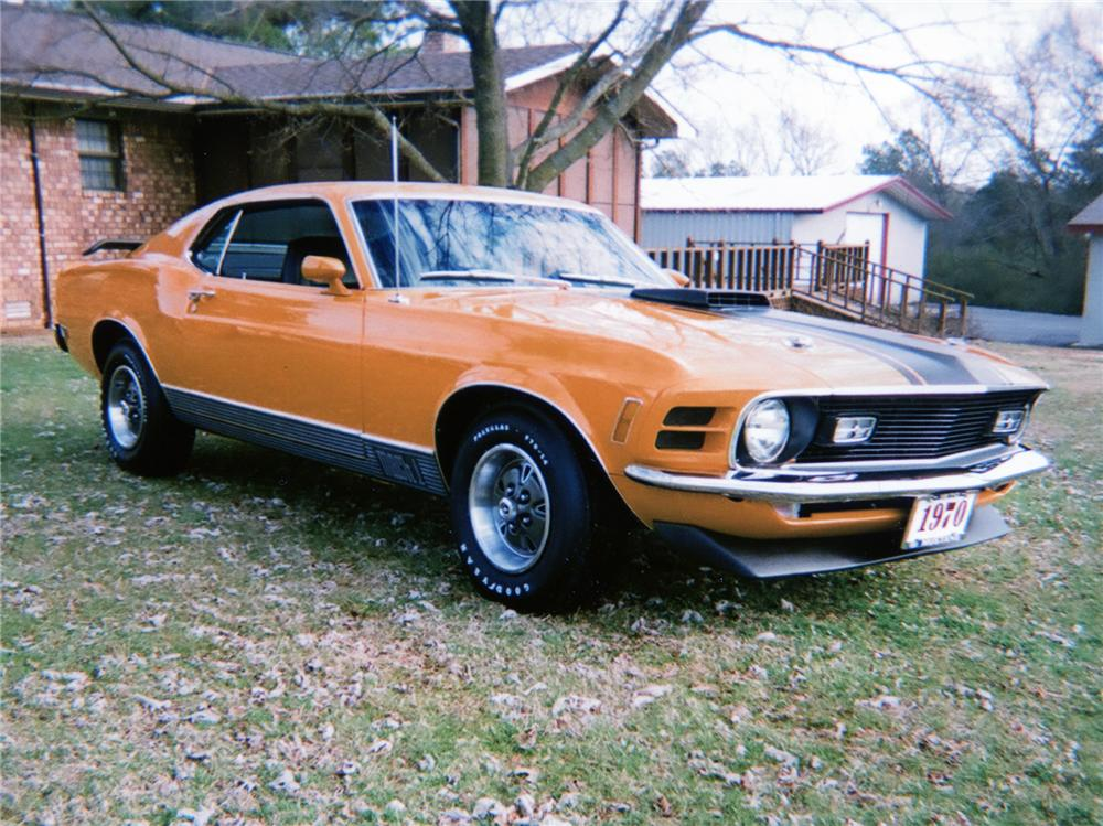 1970 FORD MUSTANG MACH 1 FASTBACK - Front 3/4 - 70650