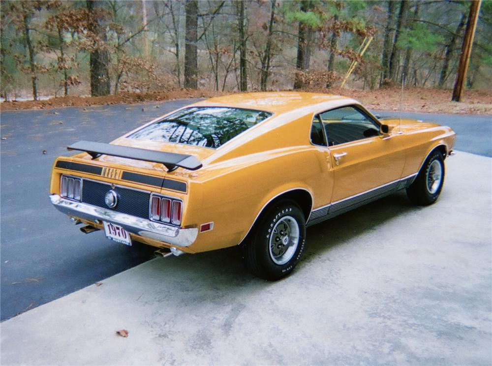 1970 FORD MUSTANG MACH 1 FASTBACK - Rear 3/4 - 70650