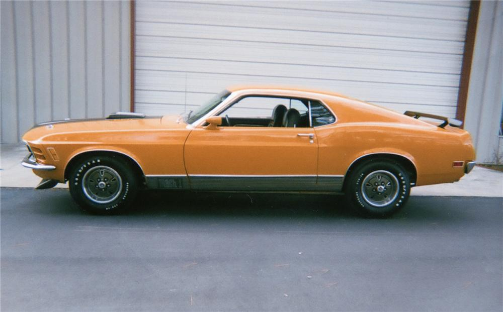 1970 FORD MUSTANG MACH 1 FASTBACK - Side Profile - 70650