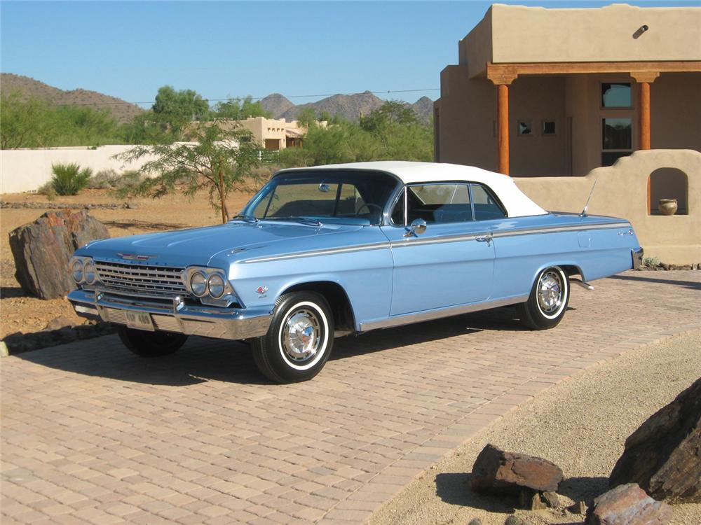 1962 CHEVROLET IMPALA SS CONVERTIBLE - Side Profile - 70654