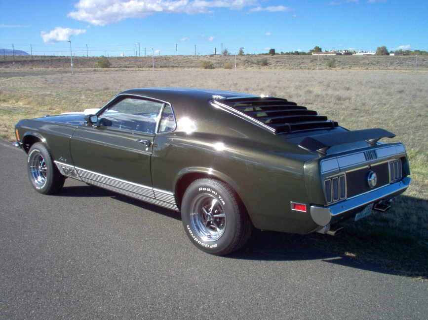 "1970 FORD MUSTANG 428 CJ ""R"" FASTBACK - Rear 3/4 - 70661"