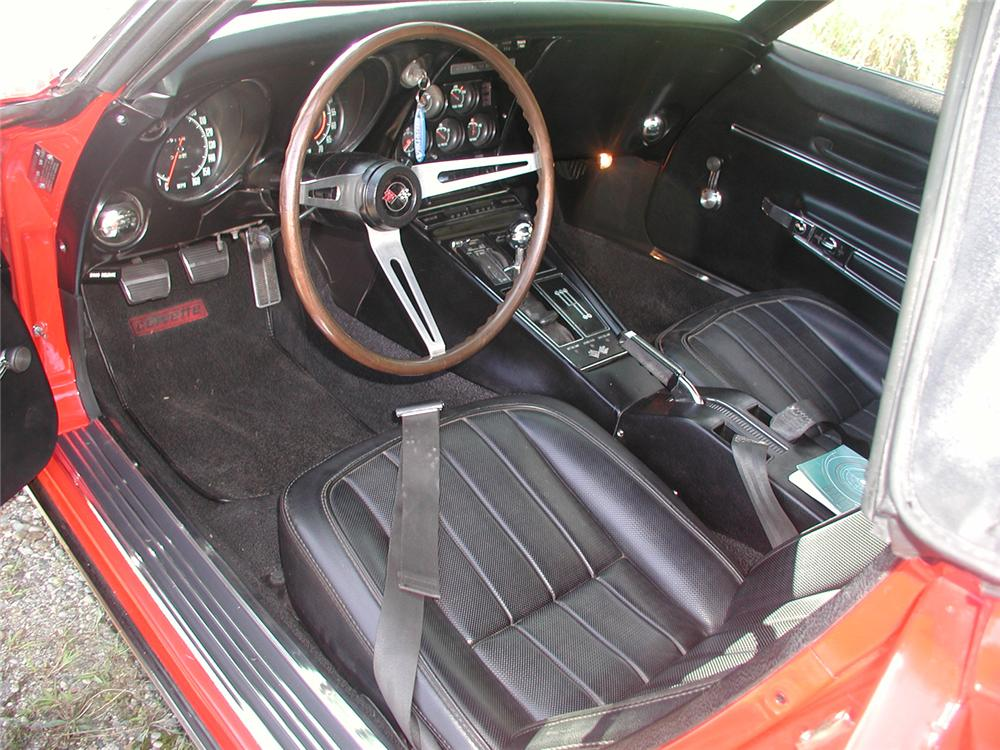 1968 CHEVROLET CORVETTE CONVERTIBLE - Interior - 70665