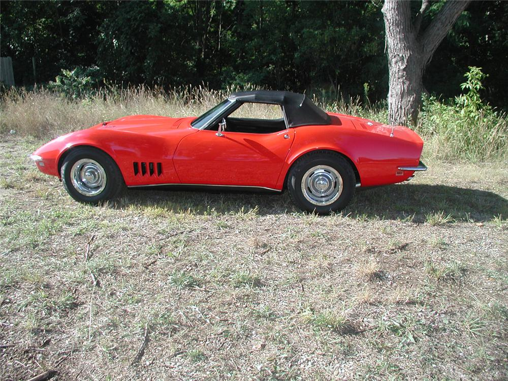1968 CHEVROLET CORVETTE CONVERTIBLE - Side Profile - 70665