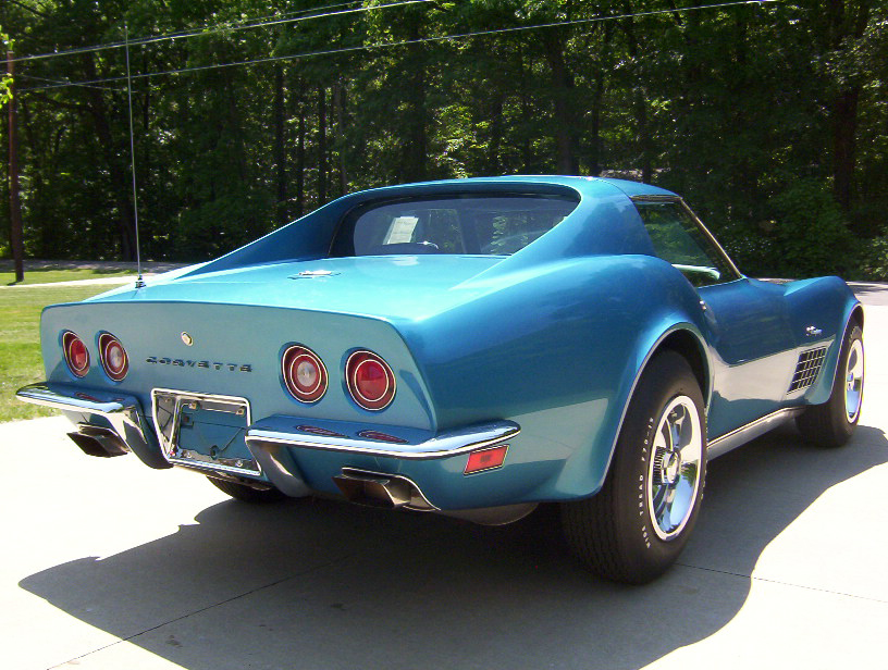 1971 CHEVROLET CORVETTE COUPE - Rear 3/4 - 70666