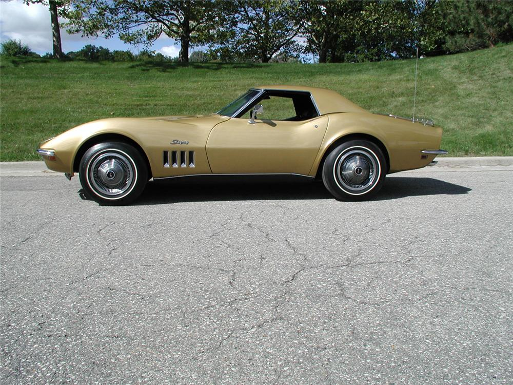1969 CHEVROLET CORVETTE CONVERTIBLE - Side Profile - 70667