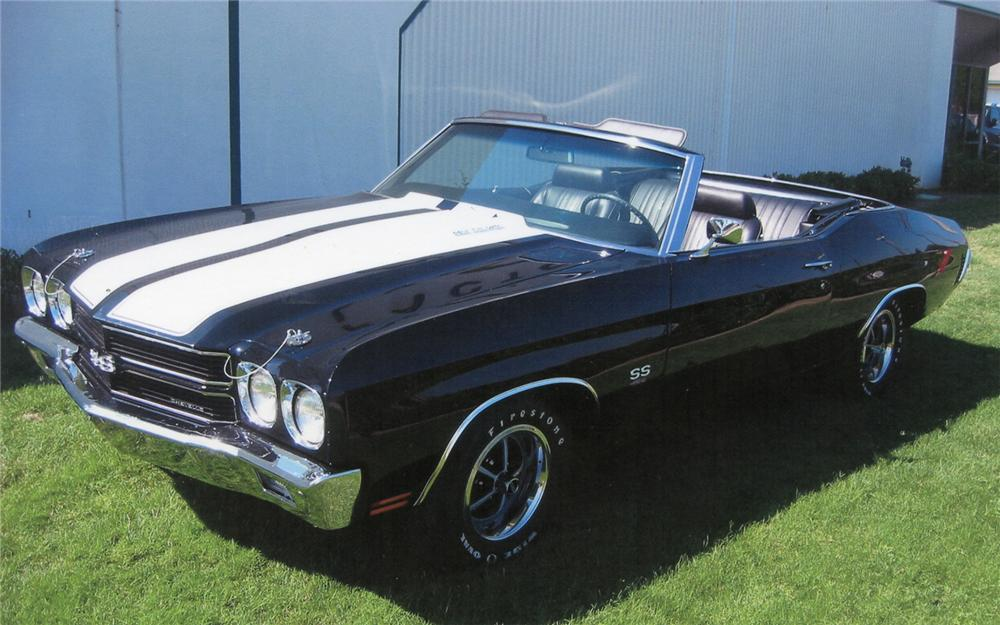 1970 CHEVROLET CHEVELLE SS CONVERTIBLE - Front 3/4 - 70670