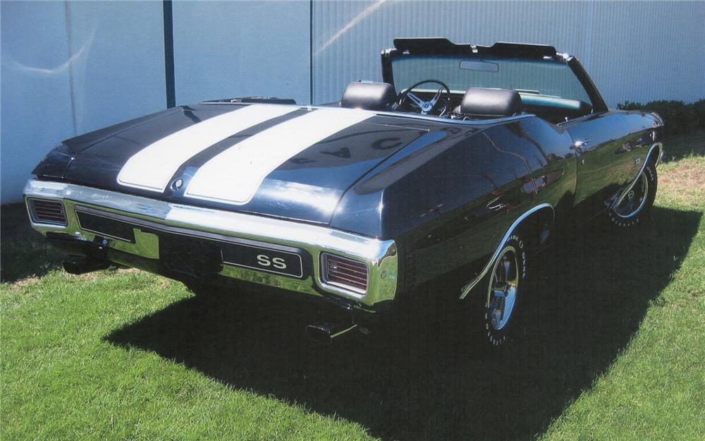 1970 CHEVROLET CHEVELLE SS CONVERTIBLE - Rear 3/4 - 70670