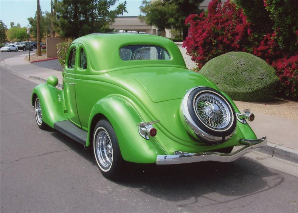 1935 FORD 5 WINDOW CUSTOM COUPE - Rear 3/4 - 70675
