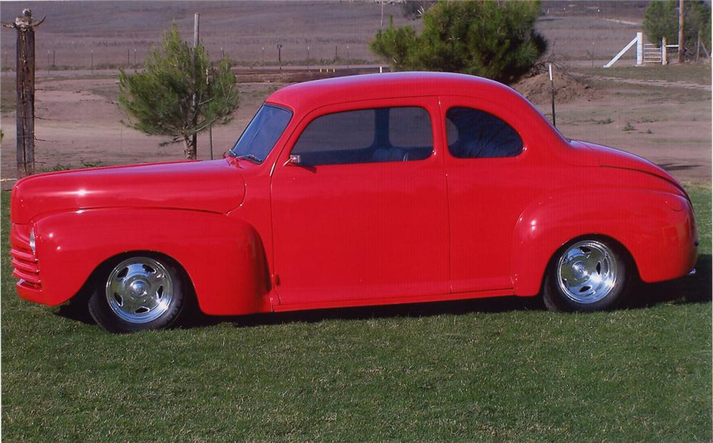 1948 FORD MODEL 48 CUSTOM COUPE - Side Profile - 70677