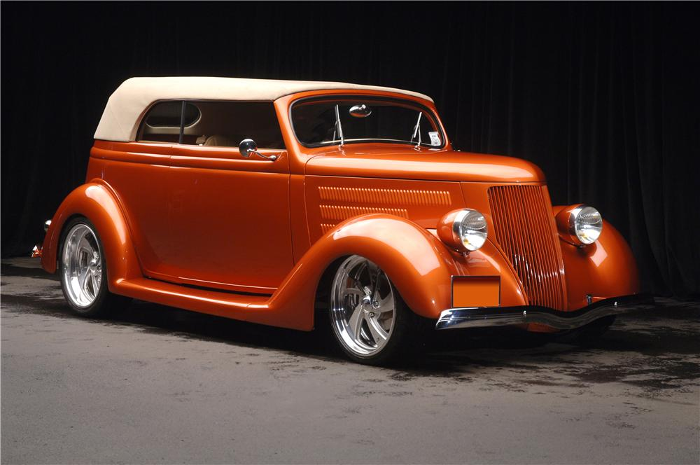 1936 FORD CUSTOM CABRIOLET - Front 3/4 - 70681